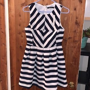 Ark & Co. Navy White Stripe Dress NWT Size Small